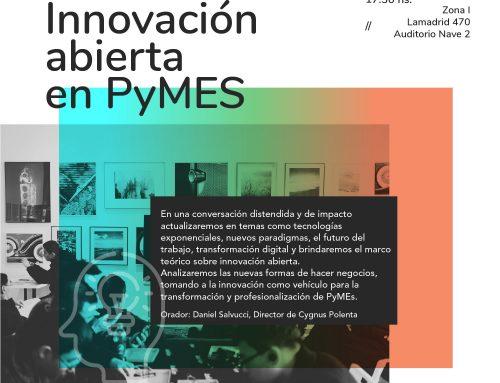 Ya se viene la charla sobre Innovación abierta en Pymes