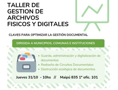 Taller de gestión de archivos físicos y digitales